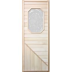 Дверь с 8-миугольным стеклом 1,85х0,75 м
