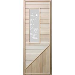Дверь с прямоугольным стеклом 1,85х0,75 м