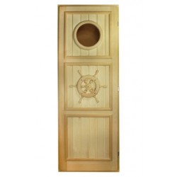 """Дверь """"Штурвал с иллюминатором"""" 1,8х0,7 м"""