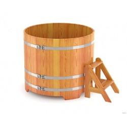 Купель круглая лиственница Ø 1,5х1,2 м