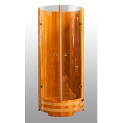Душевая кабина со стеклянными дверками