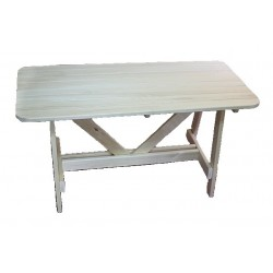 Стол для бани 1,2х0,7х0,8м (осина)